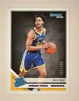 2019-20 Donruss Rated Rookie Press Proof Purple #226 Jordan Poole RC /199
