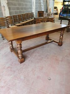 STUNNING REPRODUCTION LARGE SOLID OAK REFECTORY DINNING/KITCHEN TABLE SOLID OAK