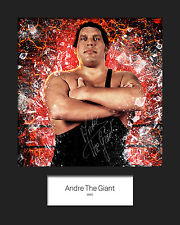 ANDRE THE GIANT #1 (WWE) Signed (Reprint) 10x8 Mounted Photo Print - FREE DEL