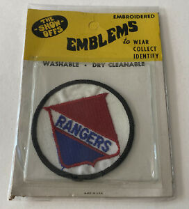 1970's NHL New York Rangers The Show-Offs Embroidered Emblem New In The Package