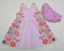 Girls sz 18-24 M Gymboree Violet Striped Floral Knit Sun Dress 2 pc Island Girl