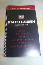 Ralph Lauren Paint Instructions Denim Chambray Linen Antiqued Leather Aging