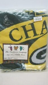 Green Bay Packers 1997 Super Bowl 31 Champions Throw 58 x 43