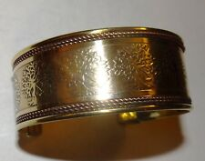 TREE OF LIFE BRASS AND COPPER BANGLE CUFF BRACELET SPIRITUAL JEWELRY Cat Res