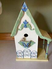 Wooden Bird House with little bird 14� x 9� x 5�