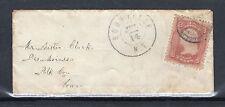 US 65 (1861) 3c On Cover Grade: XF/S {Postmark: Boonville NY to Black River NY}