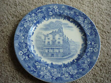 Wedgewood Collector Plate/ Boston State House/ Bluebell Border/ 19 1/2""