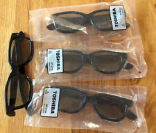 Lot of 4 Toshiba 3-D Glasses,  No. FPT-P100