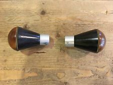 """2 wood and  metal curtain rod finials for 3/4"""" pole FREE SHIPPING"""