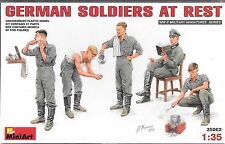 1/35 MiniArt 35062-  WWII German Soldiers at Rest  -  (5 Figure set) Plastic Kit