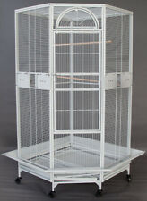 """Extra Large 63"""" Corner Cage For Cockatiel Parakeet Budgies Aviary Seed Skirts *9"""