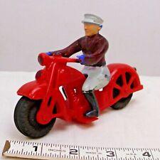 Hubley Kiddie Toy Motorcycle 1950s In Red
