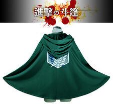 Anime Shingeki no Kyojin Cloak Cape clothes cosplay Attack on Titan XL