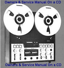 TANDBERG  TD-20-A  OWNERS & SERVICE MANUAL BOTH ON A CD FREE SAME DAY SHIPPING