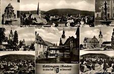 Ettlingen Schwarzwald Mehrbildkarte ~1950/60 Narren Brunnen Rathaus Kirche u.a.