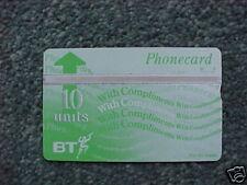BT 10u Pcard BTD 037 8th Issue Complimentary MINTUNUSED