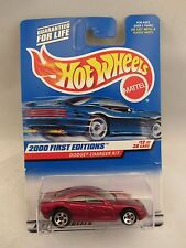 HOT WHEELS 2000 First Editions Dodge Charger R/T 12/36  Red 1:64 scale (2) 24377