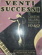 MUSICA_CANZONI_BALLO_DANZA_CASINO' DI VENEZIA_SICILIA_ZINGARA_LULU'_GARRETTO_'40