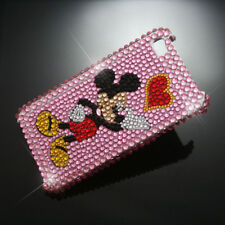 Mickey Hard Rhinestone Heart Case Cover iPhone 4 4S 4G I C01