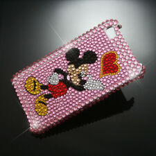 Mickey Hard Rhinestone Heart Case Cover iPhone 4 4S 4G H C01