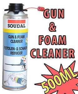 SOUDAL GUN & FOAM PU FOAM CLEANER 500ML AEROSOL CAN  EXPANDING + SPRAY