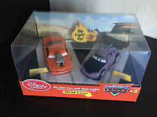 Disney Store Exclusive World of Cars Snot Rod and Boost diecast with neon lights