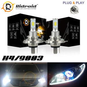 2x H4 9003 80W Hi Lo Beam LED Headlights Bulbs High Low Beam Kit 6000K White