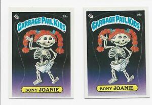 Garbage Pail Kids 1985 Series 1 Bony Joanie 29a checklist &Reform School Diploma