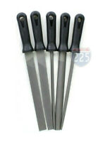 "5 Piece 10"" Second Cut File Set Round Square Flat Half-Round Hand Tool Kit"