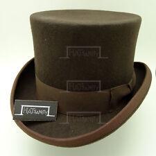 0c79190362b CLASSIC Wool Felt Men Tuxedo Top Hat Gentleman Victorian Topper