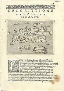 Antique maps, Scarpanto [Porcacchi, 1576]