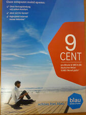 German blau.de  sim with 10 EURO credit to sell