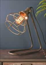 Caged Desk Lamp Bedside Table Light Industrial Retro Vintage Style Electric LED