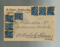 1923 Itzehoe Germany Inflation Postcard cover to Osterholz