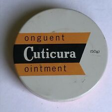 Vintage 1960s Cuticura Ointment Tin Round Box Jeffrey Martin Made in Canada