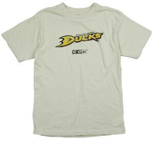 Reebok NHL Youth Boys Anaheim Ducks NHL Short Sleeve Vintage T-Shirt, Cream