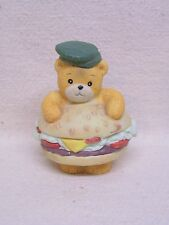 Enesco Lucy & Me Lucy Rigg Cheese Burger Bear Figurine 1989