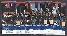 2015-16 NBA NEW YORK KNICKS BASKETBALL COMPLETE SEASON FULL TICKETS - ALL 44 TIX
