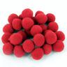 """Red Pom Poms 25mm (1"""") Finest Best Quality Craft Pompoms xmas reindeer nose"""