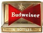 ORIGINAL VINTAGE BUDWEISER BEER LIGHTED WALL SIGN / BAR DISPLAY WIRED & WORKING