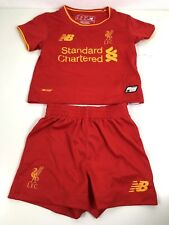 New Balance Liverpool Home Set T Shirt Shorts Kids Infant 6 -12 Mths Red R551-20