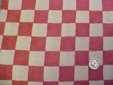 FARMHOUSE LARGE PLAID RED & WHITE Sharon Kessler Concord BTYd Cotton Fabric