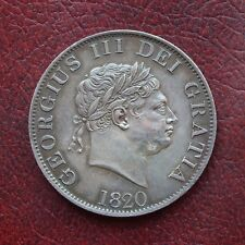 More details for george iii 1820 silver halfcrown