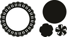 Marianne Craftables Circle Die Cut Set/Ribbon Doily Rosette CR1350/4 Dies