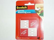 3M Scotch Mounting Squares Removable 25.4x25.4mm pack of 16 up to 450g 108