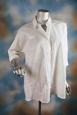 NEW ALFANI oversized bright white neo foundations button blouse top shirt SZ: 6