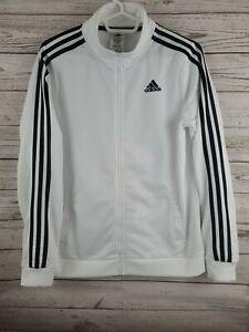 Adidas Youth Size Large Size 18/20 Jacket Full Zip Black & White Three Stripes