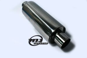 "Universal  Exhaust 4"" x 2"" x 20"" Silencer Kit Car Resonator Muffler Back Box 304"