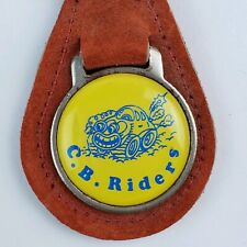 Vintage C.B. Riders CB radio club leather keychain keyring 1980's