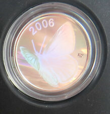 M-6 RCM 2006 SILVERY BLUE BUTTERFLY 50-CENT. SEE PICTURES